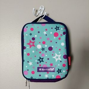American Girl star zipper lunch bag box like new